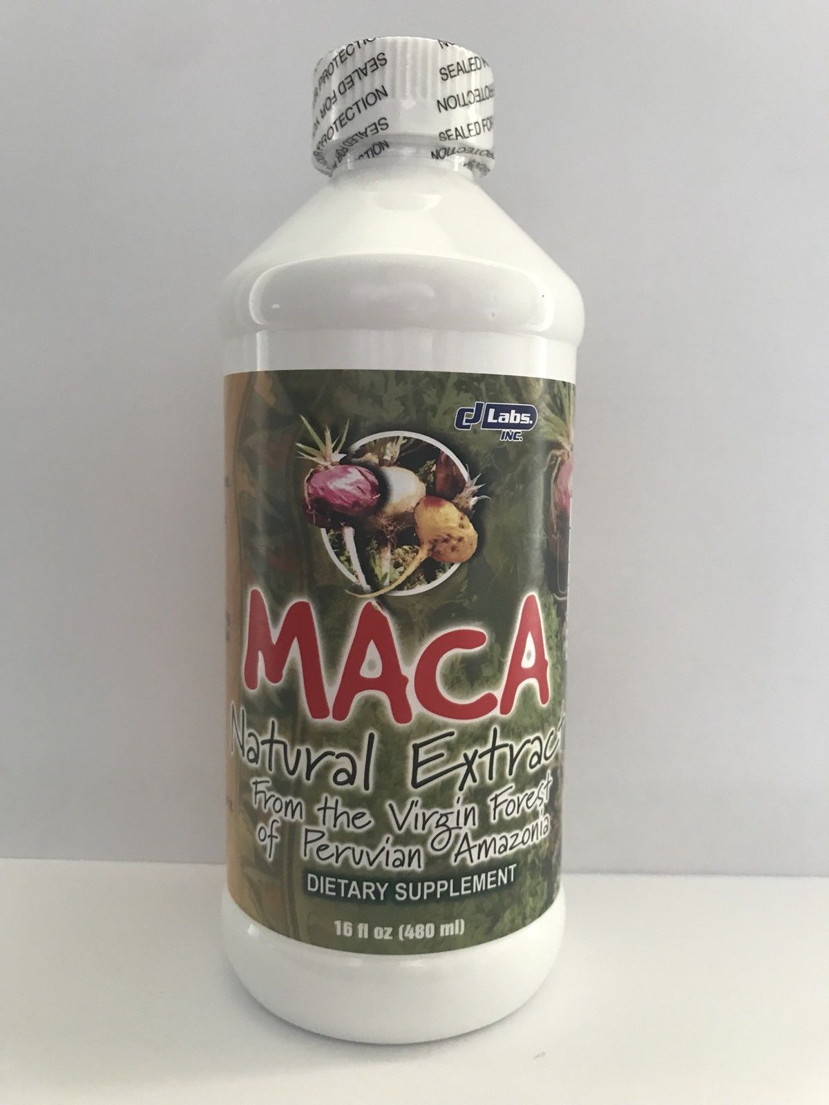 Maca Root Natural Extract Black, Red, Yellow/ 1400mg / From the Virgin Forest of Peruvian / Liquid Supplement.(16 Fl Oz Bottle)