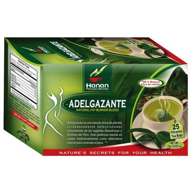 Adelgazante Natural Fat Burner Herbal Tea. (25 Tea Bags)