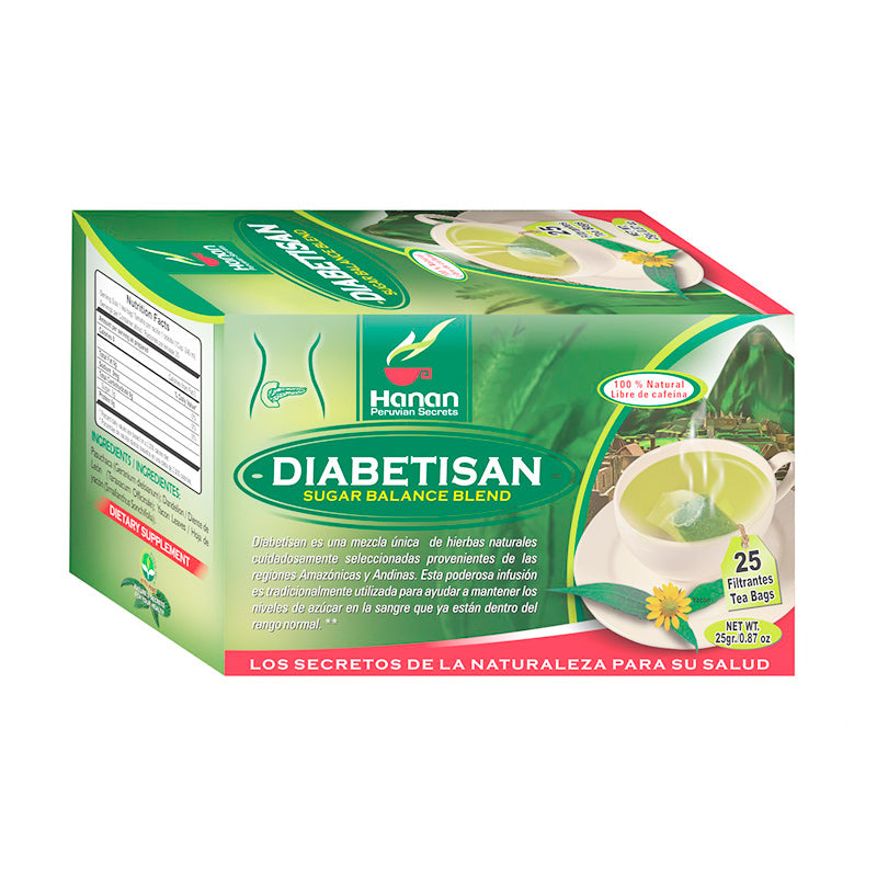 Diabetisan Glucose Control Herbal Tea. Support Healthy Blood Sugar Levels. ( 25 Tea Bags )