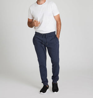 Rocker Series Track Pants For Men- Navy Marle Grey