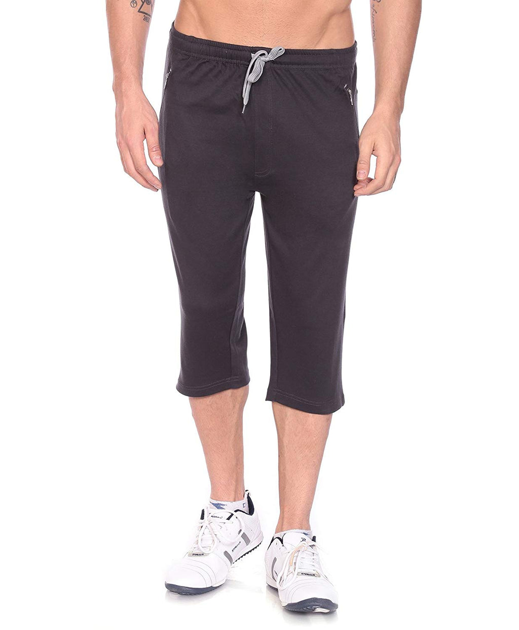 Rocker Series Capri For Men- Charcoal