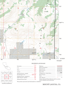 US Forest Service 1:24K Map