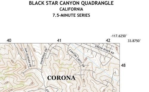 Black Star Canyon Quadrangle