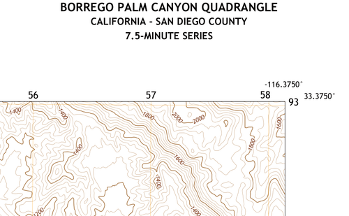 Borrego Palm Canyon Quadrangle