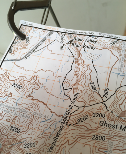 Custom map delivered as PDF or on Durable Map Paper