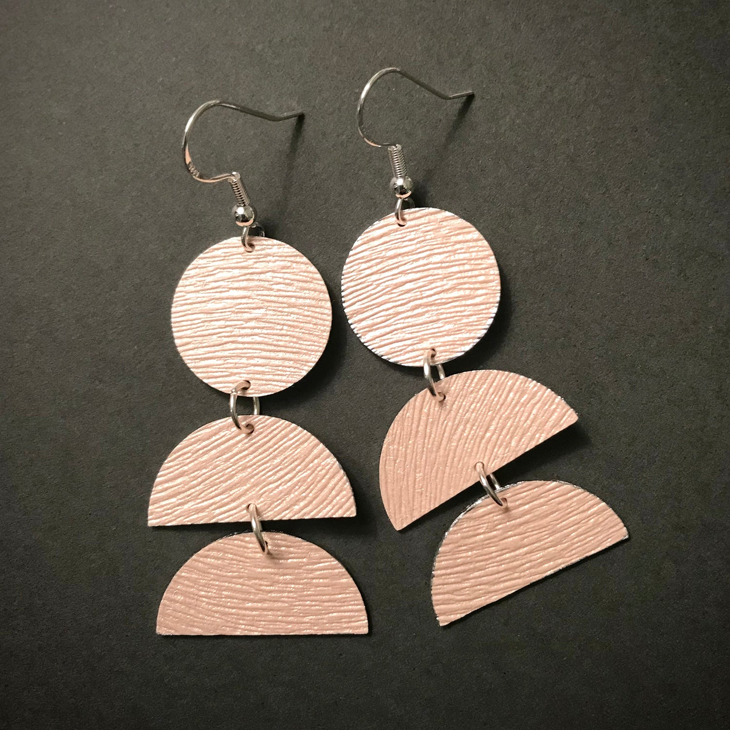 Blush Pinke Layered Upcycled Earrings from Gracie Nicole