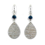 Load image into Gallery viewer, Gracie Nicole Small Silver Teardrops with Sapphire Blue Faceted Beads
