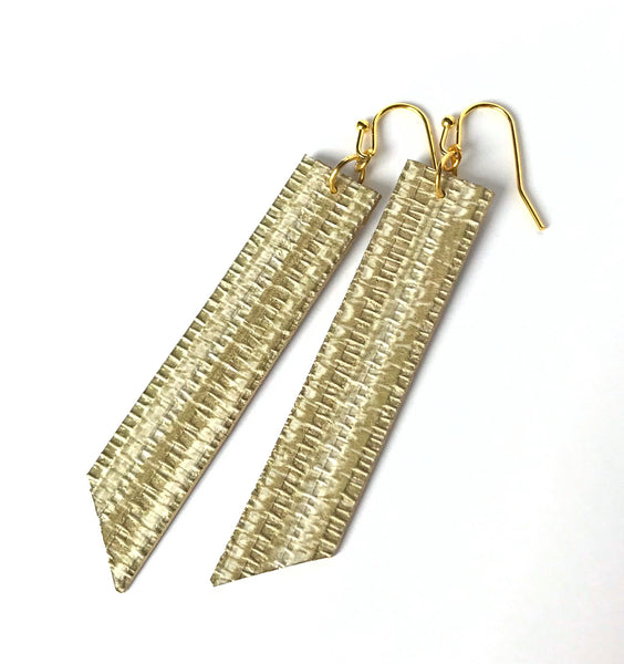 Gracie Nicole Faux Grasscloth Lightweight Statement Earrings