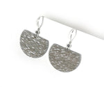 Load image into Gallery viewer, Textured Metallic Grey Ultra-Lightweight Earrings