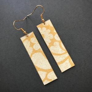 Golden Floral Lightweight Earrings