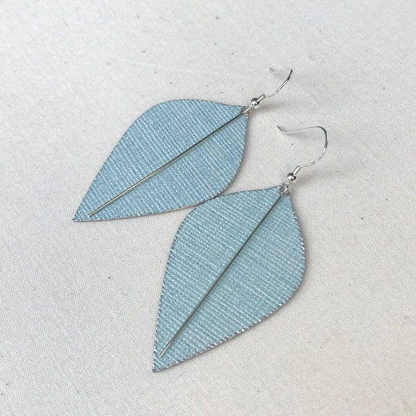 Mint Leaf Lightweight Statement Earrings by Gracie Nicole