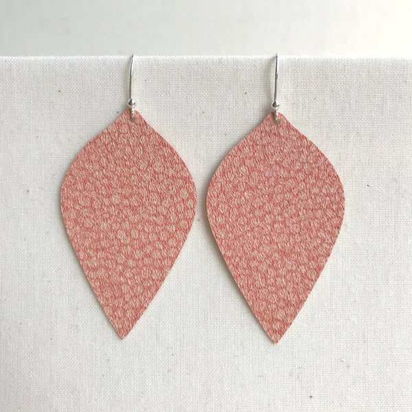 Lightweight Peachy Statement Earrings by Gracie Nicole