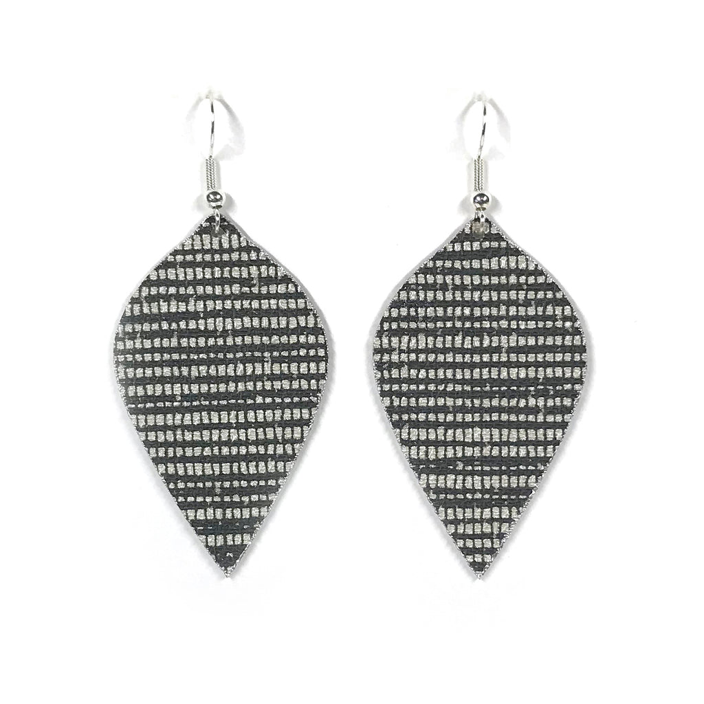 Lightweight, Sophisticated Black and White Leaf Earrings