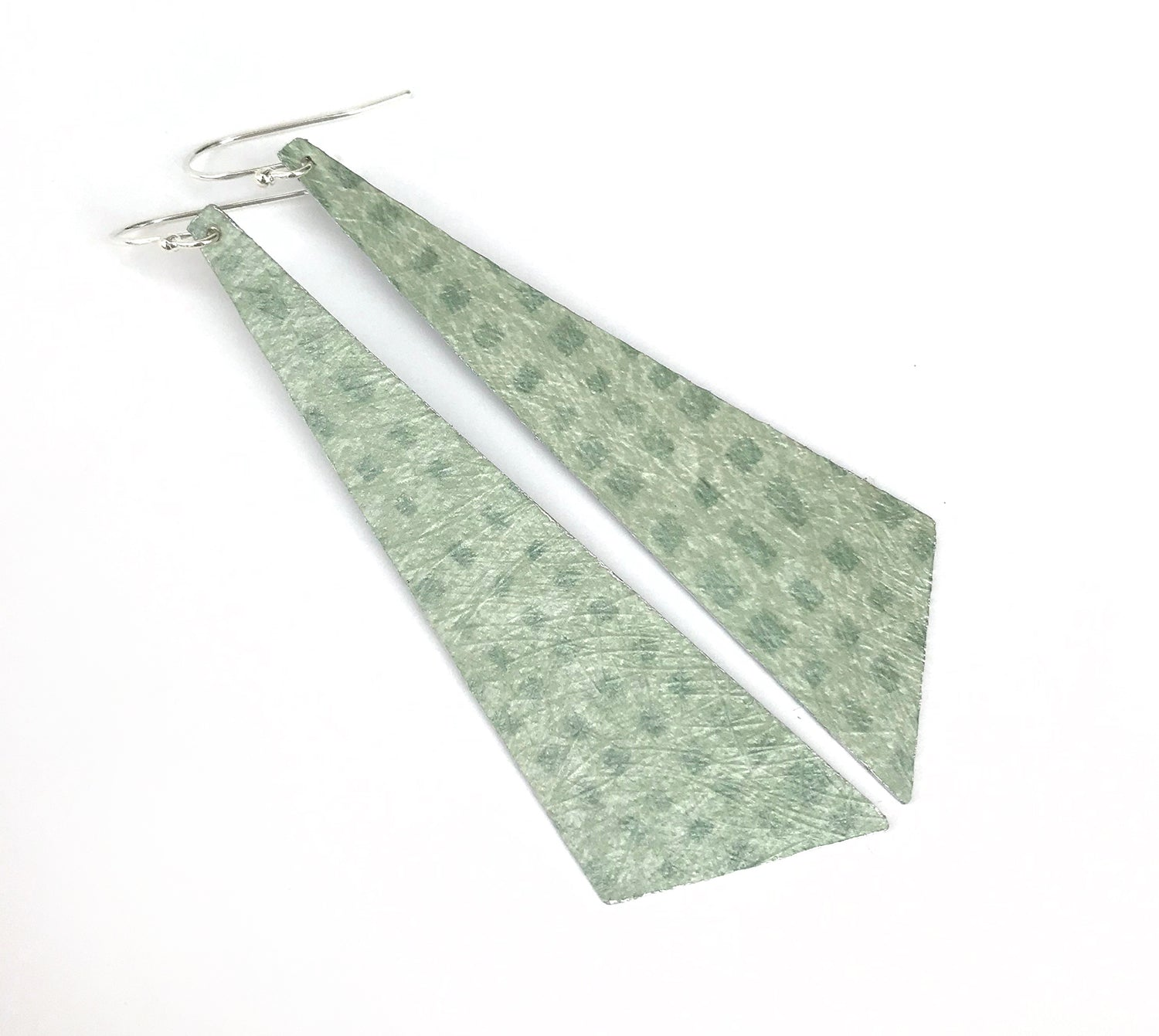 Playful Green Lightweight Statement Earrings
