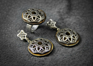 Earrings #B2008 - HANDMADE ARMENIA INC.