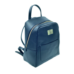 Beautiful, compact and practical backpack purse. Italian leather. Handcrafted to order.