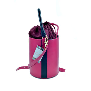 Bucket - cross body is elegant, modern and stylish. Handcrafted to order.