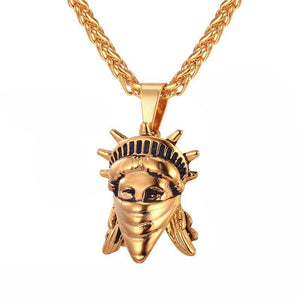 Yellow Gold Stature of Liberty Pendant / American Rebel Collection-Pendant--Capital Bling