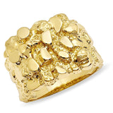 18k Gold Nugget Style Ring-Ring--Capital Bling