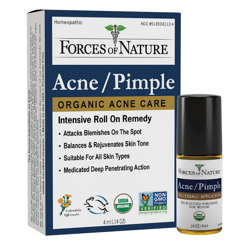 Natural Acne Pimple Treatment  4ml | Forces of Nature Organic Medicine