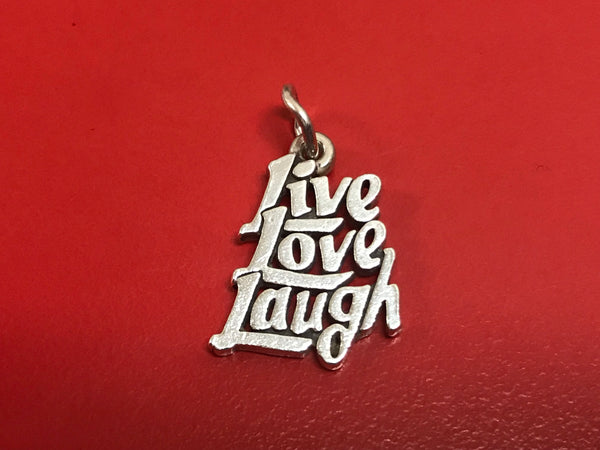 James Avery Sterling Silver Live Love Laugh Charm