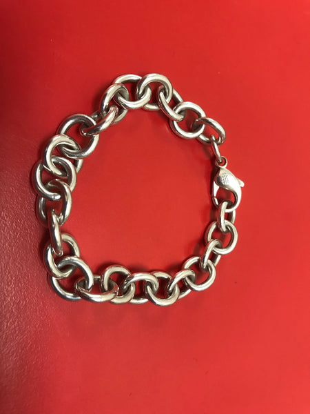 James Avery Thick Heavy Classic Cable Charm Bracelet 7""