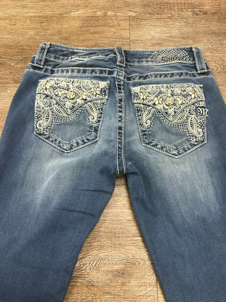 Miss Me Mid-Rise Slim Bootcut Jeans MP7278SBV Size 27