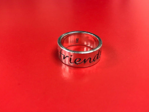 James Avery Sterling Silver Friends Forever Band Size 7.5