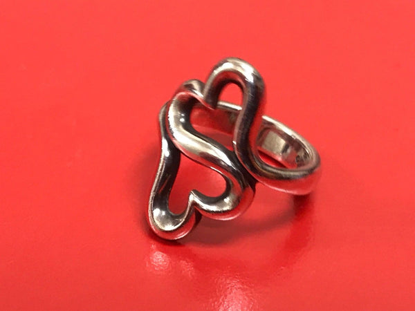 JAMES AVERY STERLING SILVER HEART TO HEART RING SIZE 6