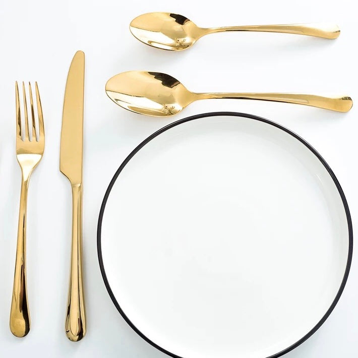 Gold cutlery one person