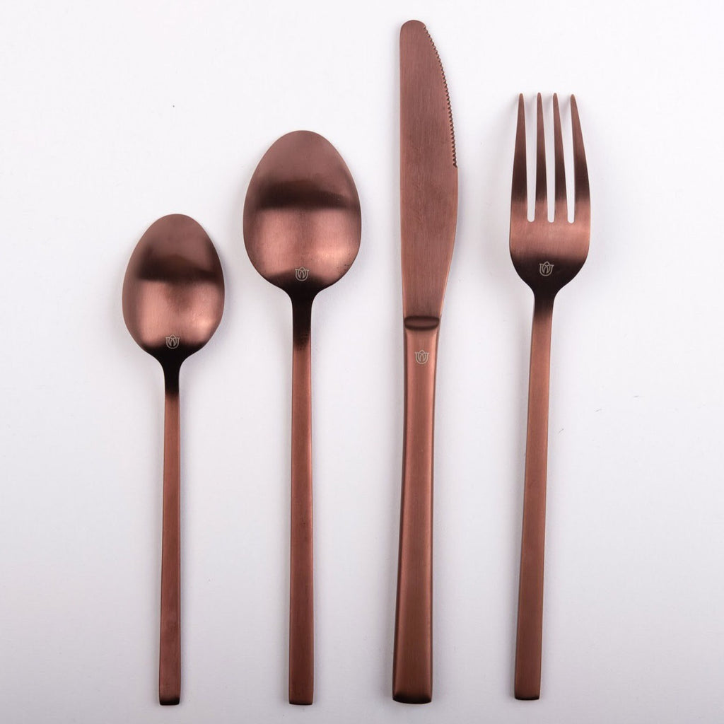 """Whitman"" Copper Rose Gold Cutlery"