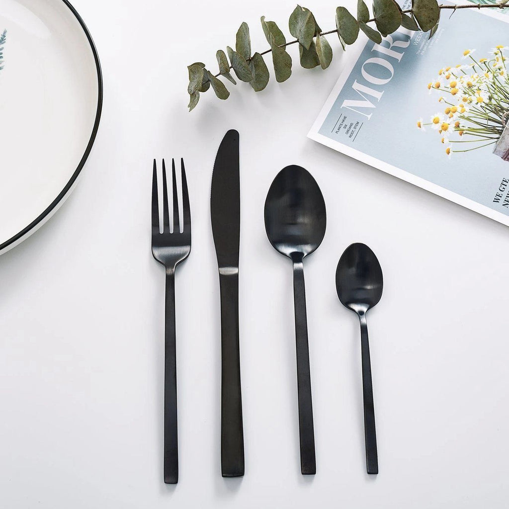 """Whitman"" Black Steel Cutlery"