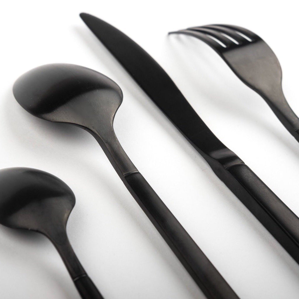 "Buy ""Buckingham"" Matte Black Cutlery"