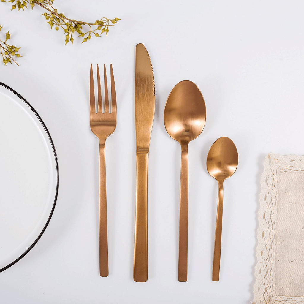 """Whitman"" Copper Cutlery Set one person"