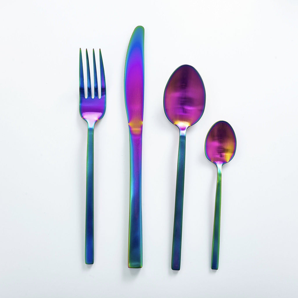 """Whitman"" Iridescent Cutlery Set"