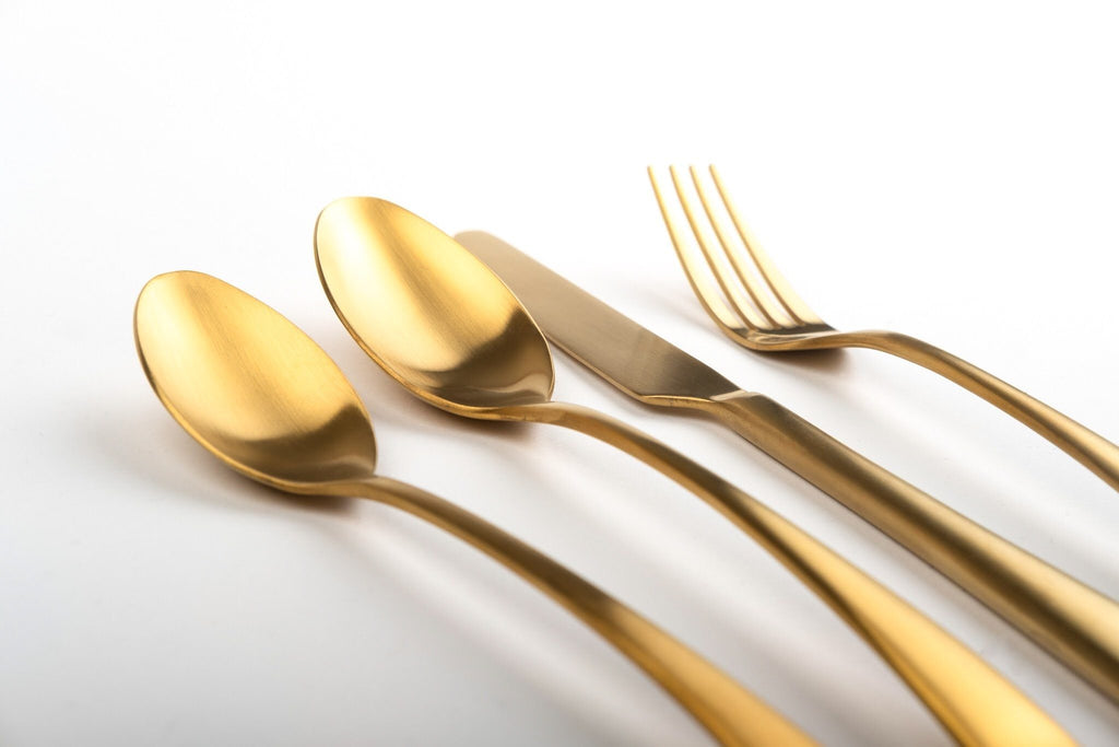 """Mayhew"" Matte Gold Cutlery Rose Metallics"