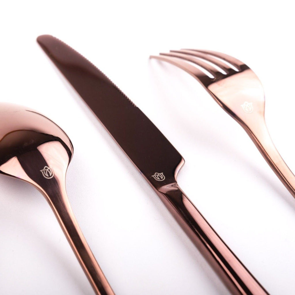 """Mayhew"" Mirror Rose Gold Cutlery Set Rose Metallics"
