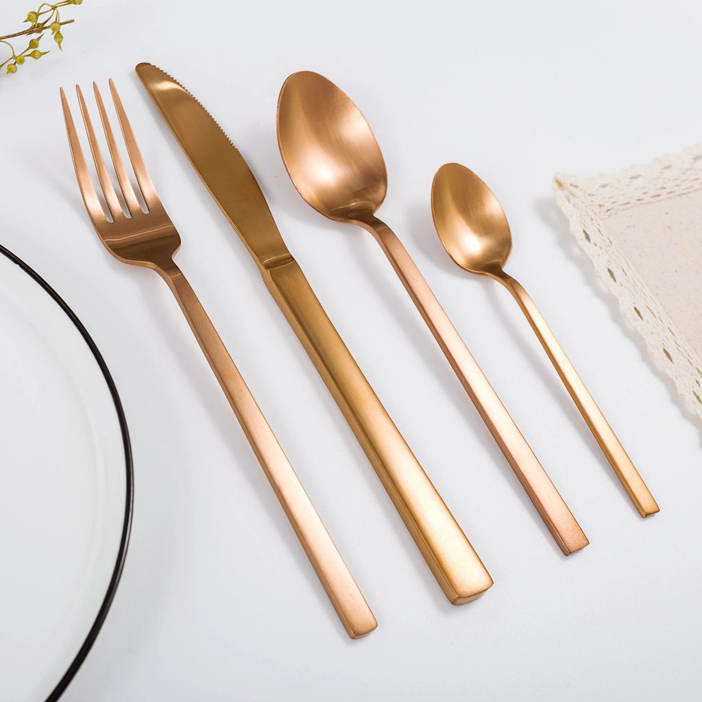 """Whitman"" Copper Cutlery Set"