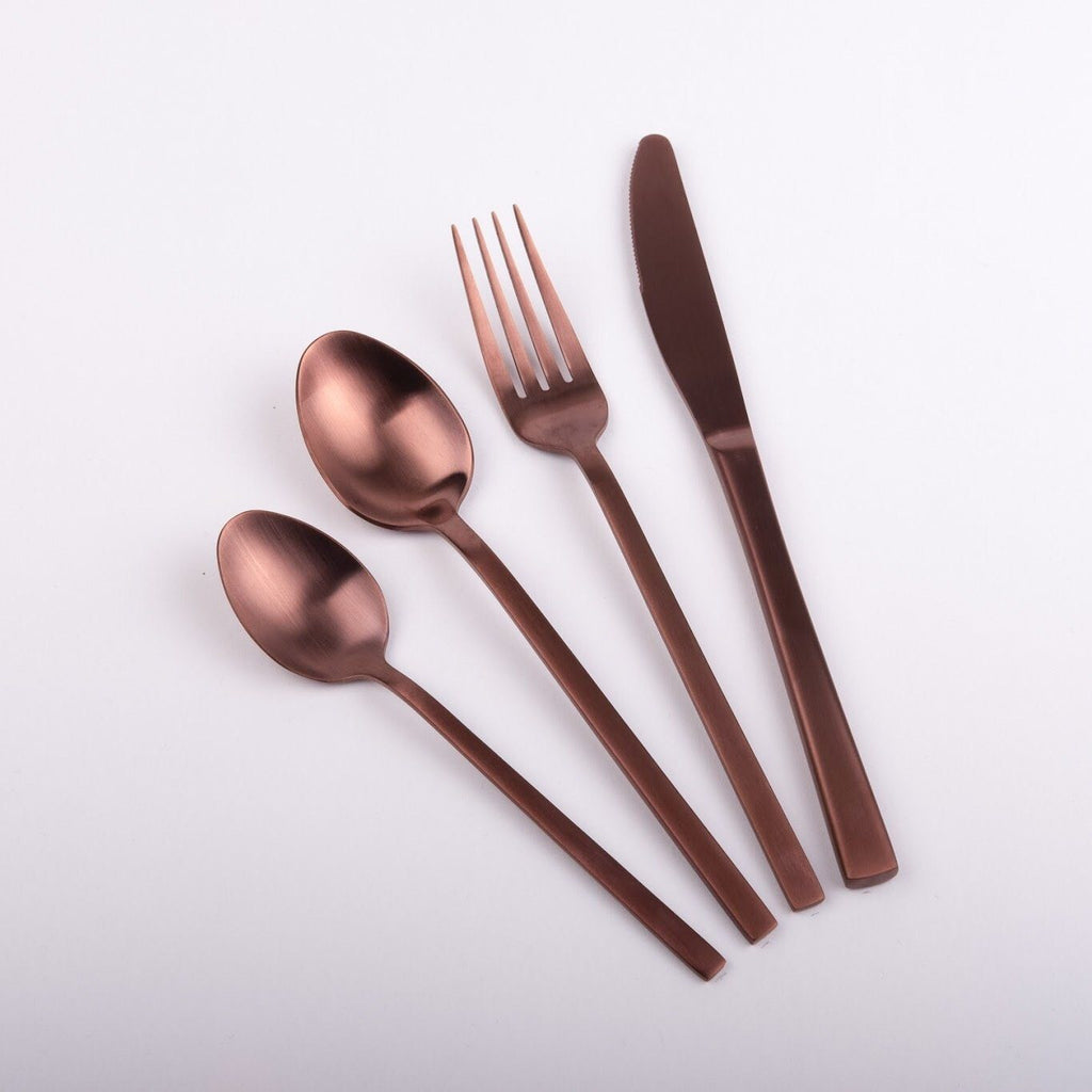 """Whitman"" Copper Rose Gold Cutlery Rose Metallics"
