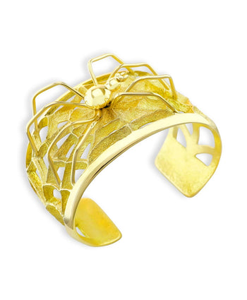 Monty Claw Santa Fe Native 18K Gold Spider and Web Bracelet.