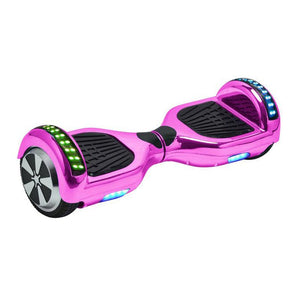 Chrome Pink LED Hoverboard