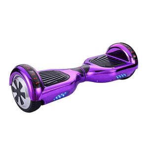 Chrome Purple LED Hoverboard