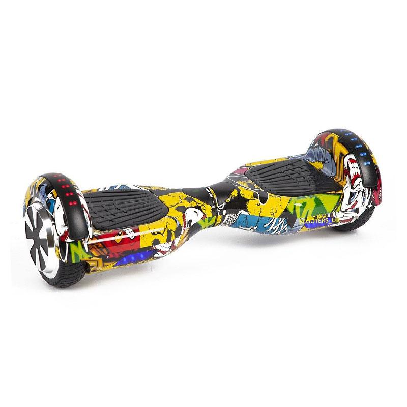 Graffiti Yellow LED Hoverboard