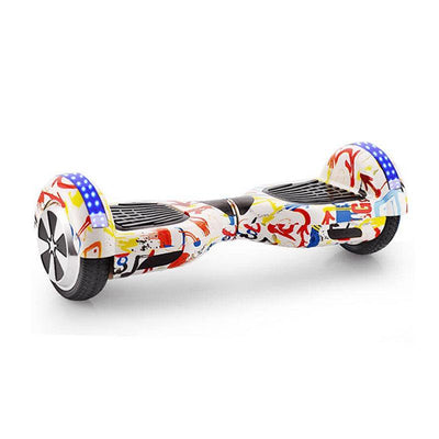 Graffiti White LED Hoverboard