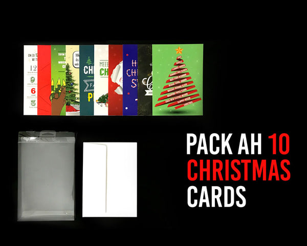 Pack Ah 10 Jamaican Christmas Greeting Cards