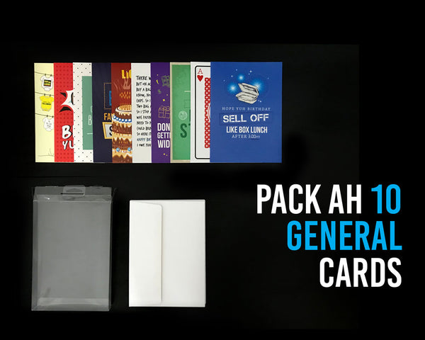 Pack Ah 10 Jamaican General Greeting Cards