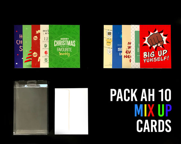 Pack Ah 10 Jamaican Mix Up Greeting Cards