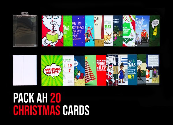 Pack Ah 20 Jamaican Christmas Greeting Cards