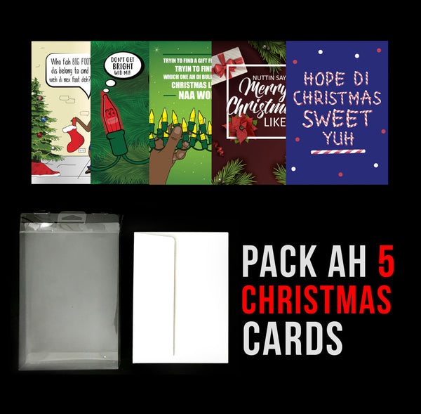 Pack Ah 5 Jamaican Christmas Greeting Cards