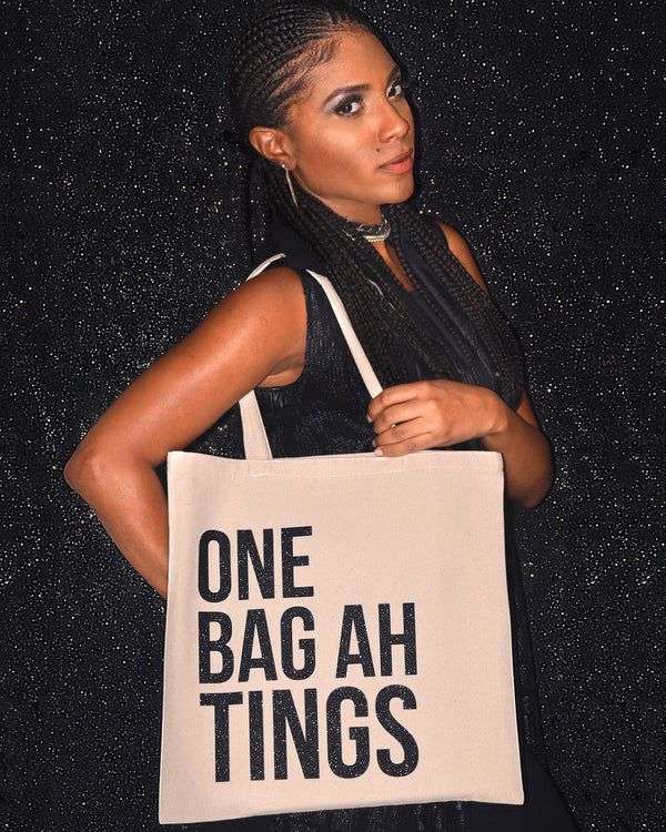 Natural & Black Glitter 'One Bag Ah Bling'